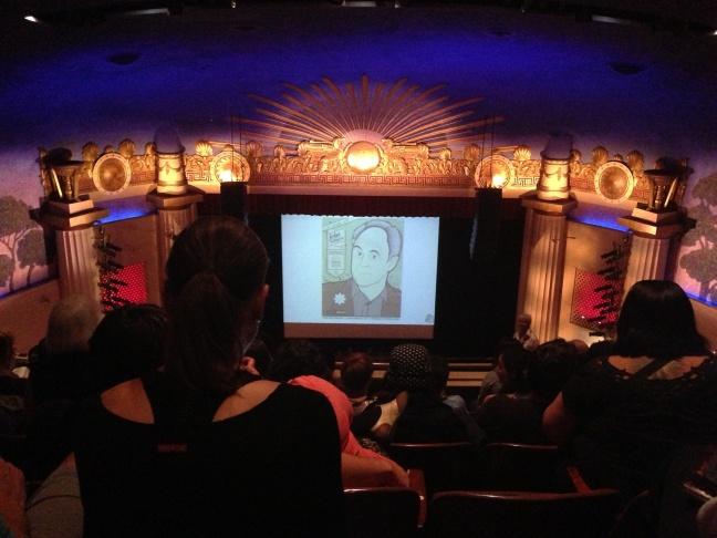 Neil Gaiman in conversation with Geoff Boucher at the Alex Theatre in Glendale