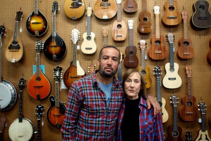 Ben and Ellen Harper at the Folk Music Center in Claremont
