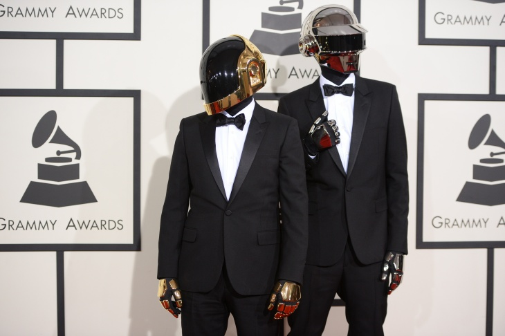 Musicians Thomas Bangalter and Guy-Manuel de Homem-Christo, winners of Album of the Year and Best Pop Duo/Group Performance attends the 56th GRAMMY Awards at Staples Center on January 26, 2014 in Los Angeles, California.