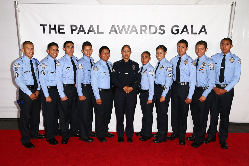 The Los Angeles Police Cadets attend the 2013 Los Angeles Police Department South Los Angeles PAAL Awards Gala at Peterson Automotive Museum on November 13, 2013.