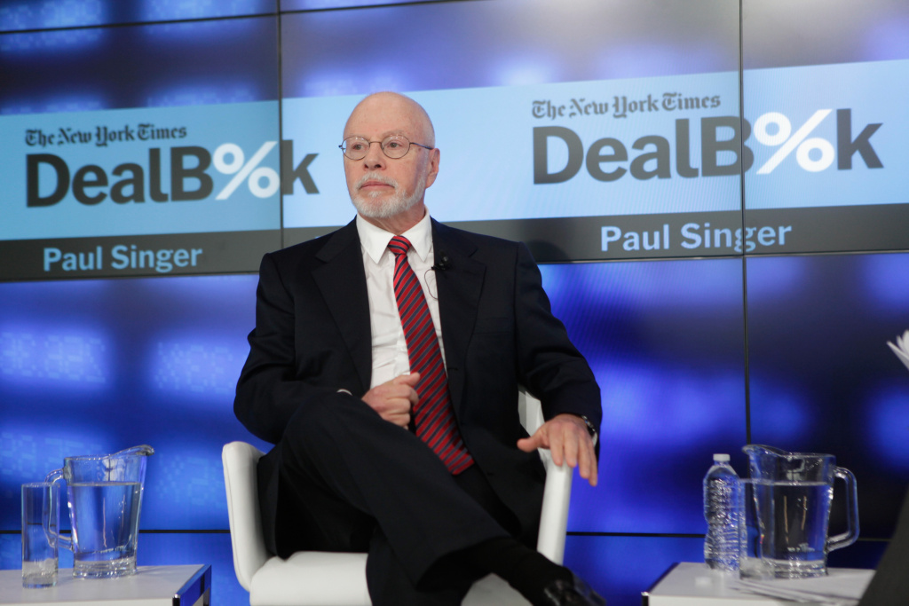Paul Singer, founder and president of Elliot Management Corporation, speaks during The New York Times DealBook Conference at One World Trade Center on December 11, 2014 in New York City.