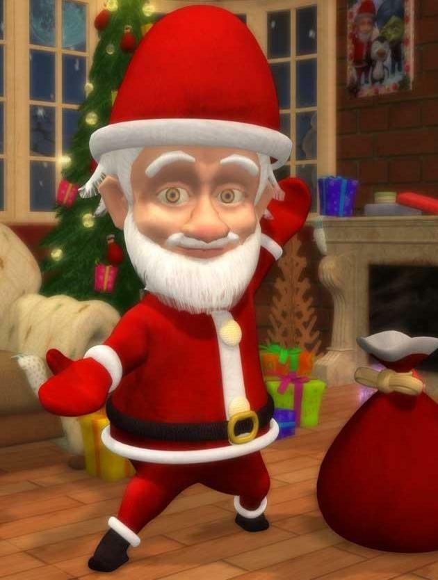 Santa, poser.