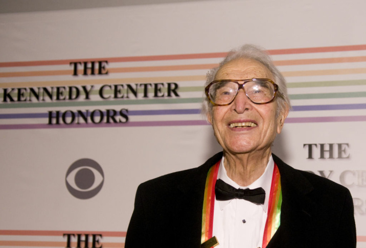 Dave Brubeck poses for photos on the red carpet before the 32nd Kennedy Center Honors at Kennedy Center Hall of States on December 6, 2009 in Washington, DC.