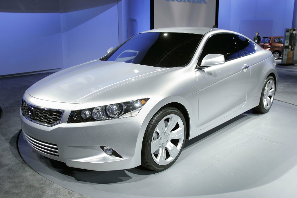 The new Honda Accord Coupe concept is revealed at the North American International Auto Show in Detroit, Michigan.