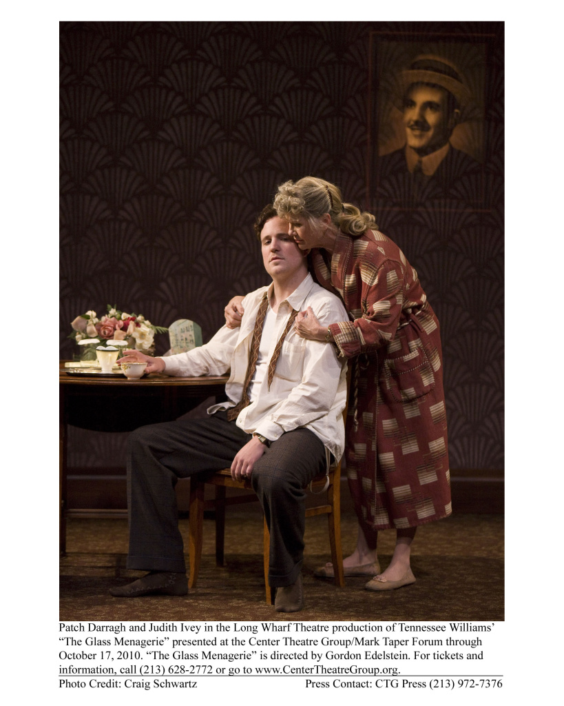 "Patch Darragh and Judith Ivey in the Long Wharf Theatre production of Tennessee William's ""The Glass Menagerie"