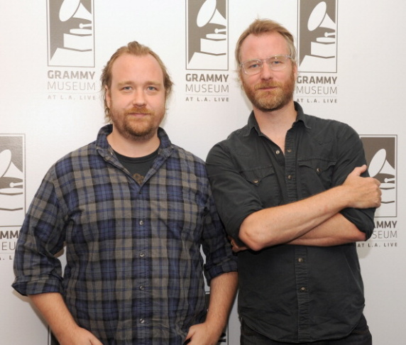 Filmmaker Tom Berninger (left) and singer Matt Berninger of The National pose before Reel to Reel: Mistaken for Strangers at The GRAMMY Museum on July 18, 2013 in Los Angeles, California. (Photo by Mark Sullivan/WireImage)
