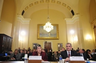 Homeland Security Secretary Janet Napolitano testifies before the House Committee on Homeland Security during a hearing on Understanding the Homeland Threat Landscape - Considerations for the 112th Congress.