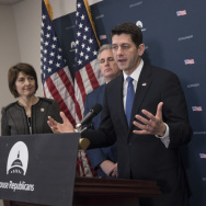 House Speaker Paul Ryan, joined by, from left, Rep. Cathy McMorris Rodgers, House Majority Leader Kevin McCarthy, and Rep. Diane Black, discuss their efforts to repeal the Affordable Care Act on Jan. 10.