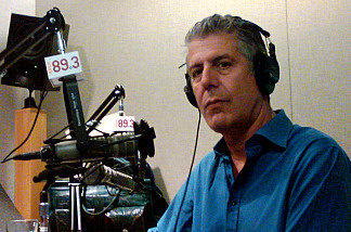 Anthony Bourdain in KPCC's downtown bureau