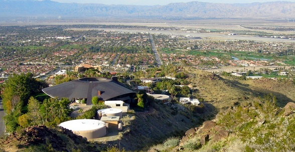 A hike along the Araby Trail takes you along and above Bob Hope's former home in Palm Springs, CA.