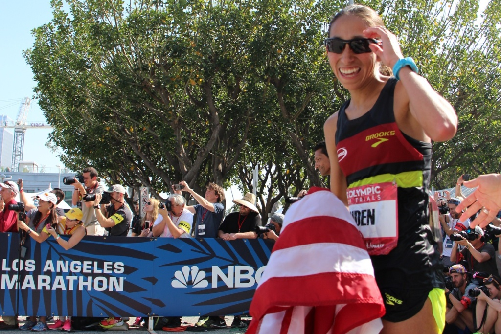Desiree Linden at the 2016 Olympic trials in LA