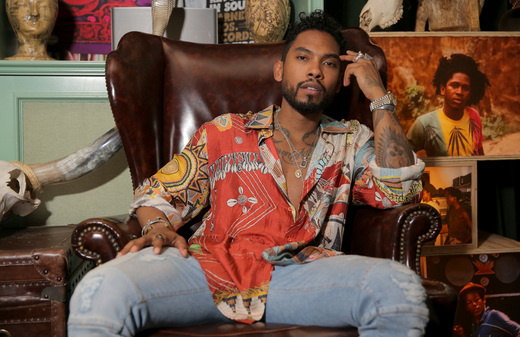 Singer-Songwriter Miguel backstage at SONOS Studio + PANDORA: An Evening With Miguel