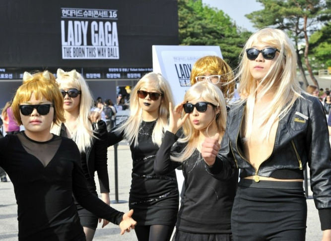South Korean fans attend Lady Gaga's con