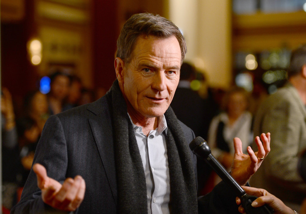 File: Actor Bryan Cranston arrives at the screening of