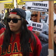 Protesters Attend Million Hoodie March For Trayvon Martin In Los Angeles