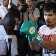 Manny Pacquiao Media Day Workout