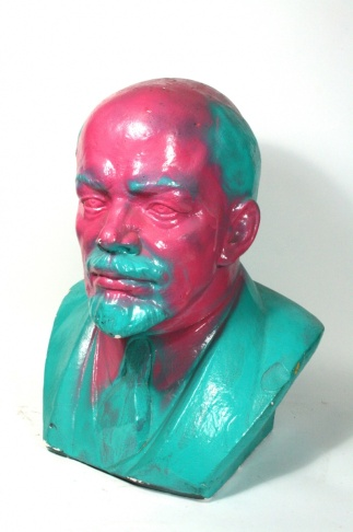 Vandalized Lenin bust, 1965/89
