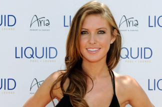 Television personality Audrina Patridge arrives at the Liquid Pool Lounge at the Aria Resort & Casino at CityCenter to celebrate her 25th birthday May 8, 2010 in Las Vegas, Nevada.