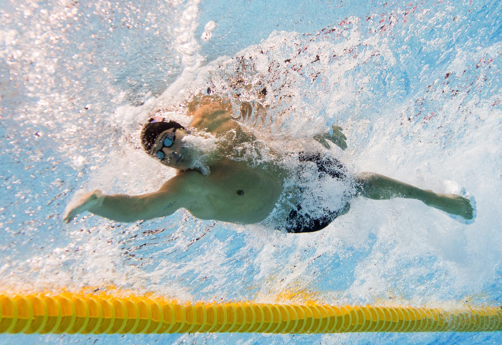 Picture taken with underwater camera of US swimmer Ryan Lochte competes in the men's 200m individual medley final swimming event at the London 2012 Olympic Games on August 2, 2012 in London. According to the New York Daily News, Lochte's family is facing foreclosure on their Florida home.