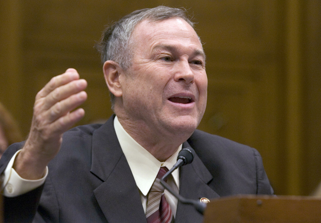 Washington, UNITED STATES: US Representative Dana Rohrabacher, Republican from California, testifies on the business perspectives of comprehensive immigration reform during a hearing by the US House Judiciary committee's subcommittee on Immigration, Citizenship, Refugees, Border Security, and International Law, on Capitol Hill in Washington, DC, 06 June 2007. A US Senate bill granting a path to citizenship for around 12 million illegal immigrants narrowly survived a key test Wednesday with the defeat of amendment which could have killed it. Senators knocked back the amendment, which supporters of the bill said could have fractured their tenuous cross-party coalition, by 51 votes to 46.  AFP PHOTO/SAUL LOEB (Photo credit should read SAUL LOEB/AFP/Getty Images)