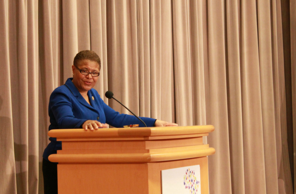 Rep. Karen Bass (D-CA) is giving her constituents a chance to attend President Obama's inauguration.