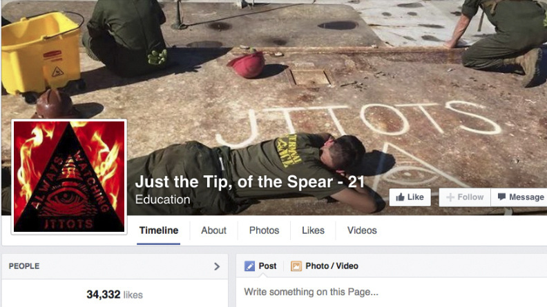 This Nov. 19 screenshot shows the cover photo of an unofficial Marine group on Facebook called