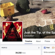 "This Nov. 19 screenshot shows the cover photo of an unofficial Marine group on Facebook called ""Just the Tip, of the Spear."" The group and those like it have been accused of promoting sexism and of acting as a forum for hate speech."