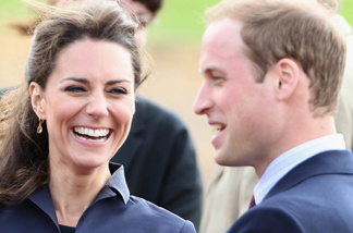 Kate Middleton and Prince William visit Whitton Park on April 11, 2011 in Darwen, England.