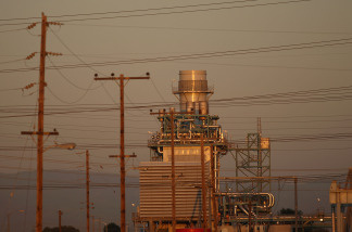 The AES Corporation 495-megawatt Alamitos natural gas-fired power station stands on October 1, 2009 in Long Beach, California.