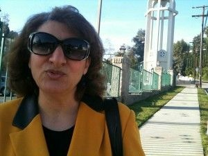 Ezabelle Attallah, a member of the mostly Egyptian-immigrant Holy Virgin Mary Coptic Orthodox Church in northeast Los Angeles.