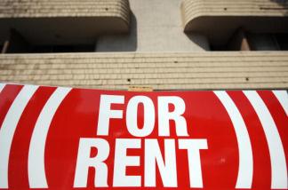 A sign for an apartment to rent is seen in Los Angeles on May 27, 2009.