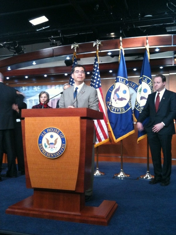 Congressman Becerra salutes the