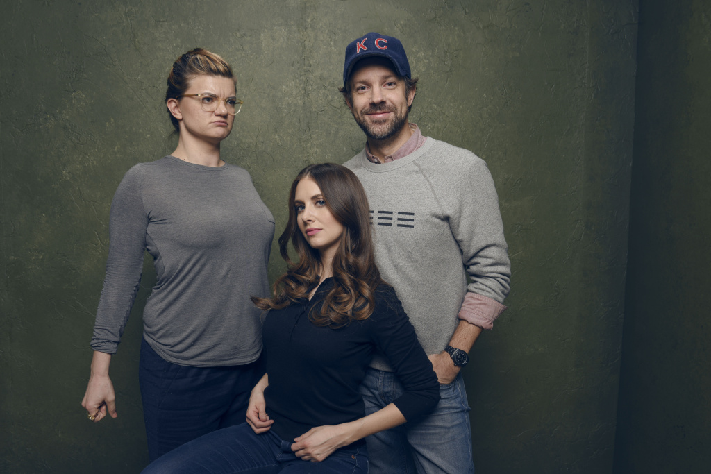 Director/writer Leslye Headland, actors Alison Brie and Jason Sudeikis of