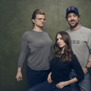"Director/writer Leslye Headland, actors Alison Brie and Jason Sudeikis of ""Sleeping with Other People"" pose for a portrait at the Village at the Lift Presented by McDonald's McCafe during the 2015 Sundance Film Festival on January 25, 2015 in Park City, Utah."