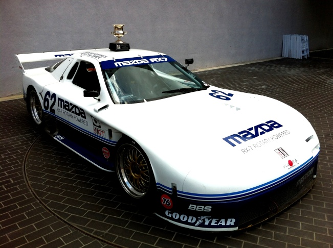 At Mazda R&D in Irvine: The 1991 IMSA GTO Championship winning car.  Mazda will race it again next week in Atlanta in a vintage race.