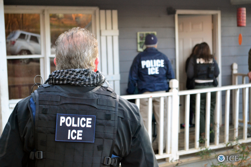 A 2017 raid by U.S. Immigration and Customs Enforcement agents in Georgia.