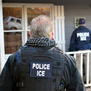 File: In this handout provided by U.S. Immigration and Customs Enforcement, foreign nationals were arrested this week during a targeted enforcement operation conducted by U.S. Immigration and Customs Enforcement (ICE) aimed at immigration fugitives, re-entrants and at-large criminal aliens Feb. 9, 2017 in Atlanta, Georgia.
