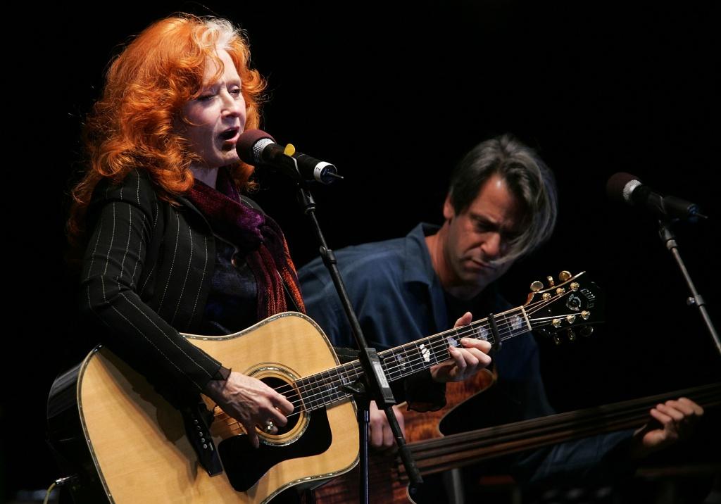 Musician Bonnie Raitt performs in San Francisco, California.