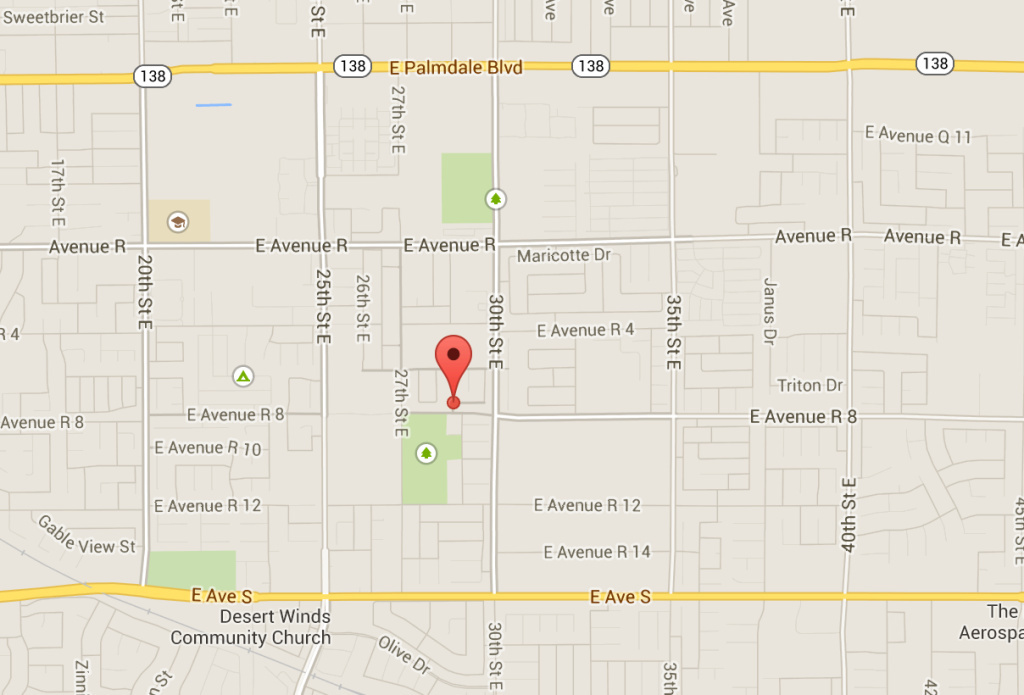 Location of reported explosion at residential drug lab in Palmdale, Calif.