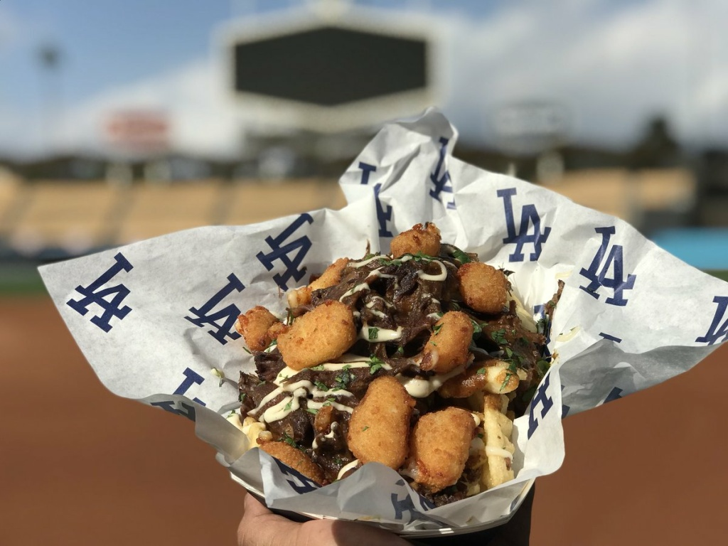Short rib waffle fries with gravy and cheese curds will be available at field level and on the top deck of Dodger Stadium as one of the team's #WorldSeriesSpecials