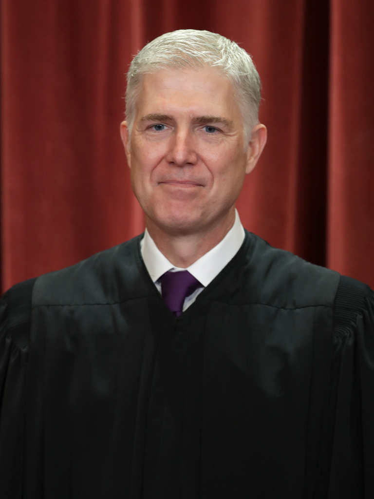 Supreme Court Associate Justice Neil Gorsuch poses for the court's official portrait in the East Conference Room at the Supreme Court building on November 30, 2018, in Washington, D.C.