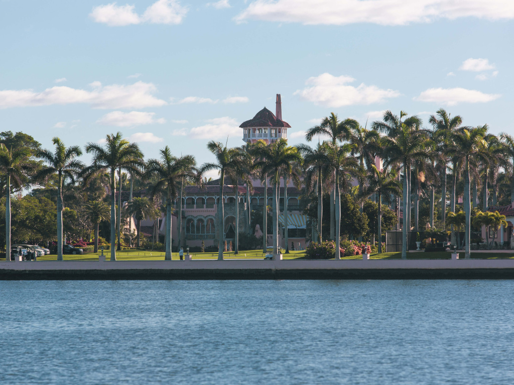 Mar-A-Lago in Palm Beach, Fla., shown last month. Former President Donald Trump hopes to live at the club full-time.