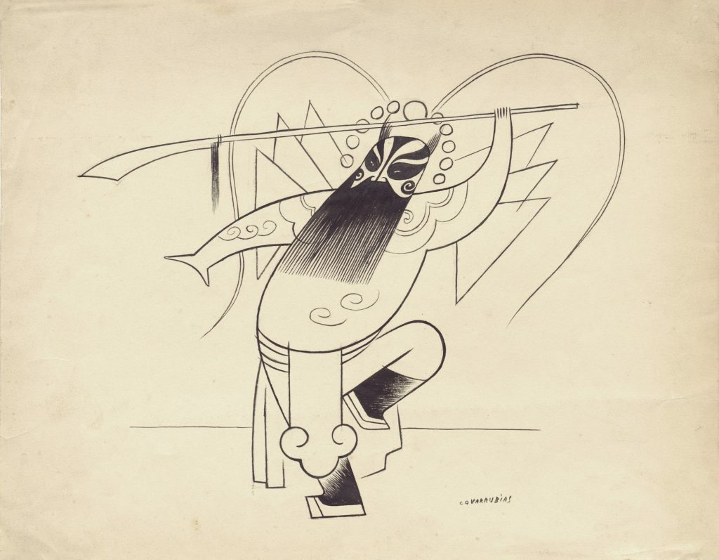 Miguel Covarrubias, Chinese Opera Singer, 1931. Drawing on paper.