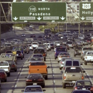 Heavy traffic on LA freeways has sparked debate over congestion pricing.