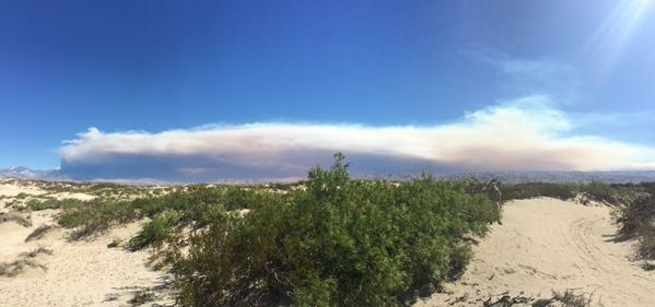 The Lake Fire in San Bernardino County expanded overnight from 100 acres to roughly 1,700 acres on Thursday, June 18, 2015.