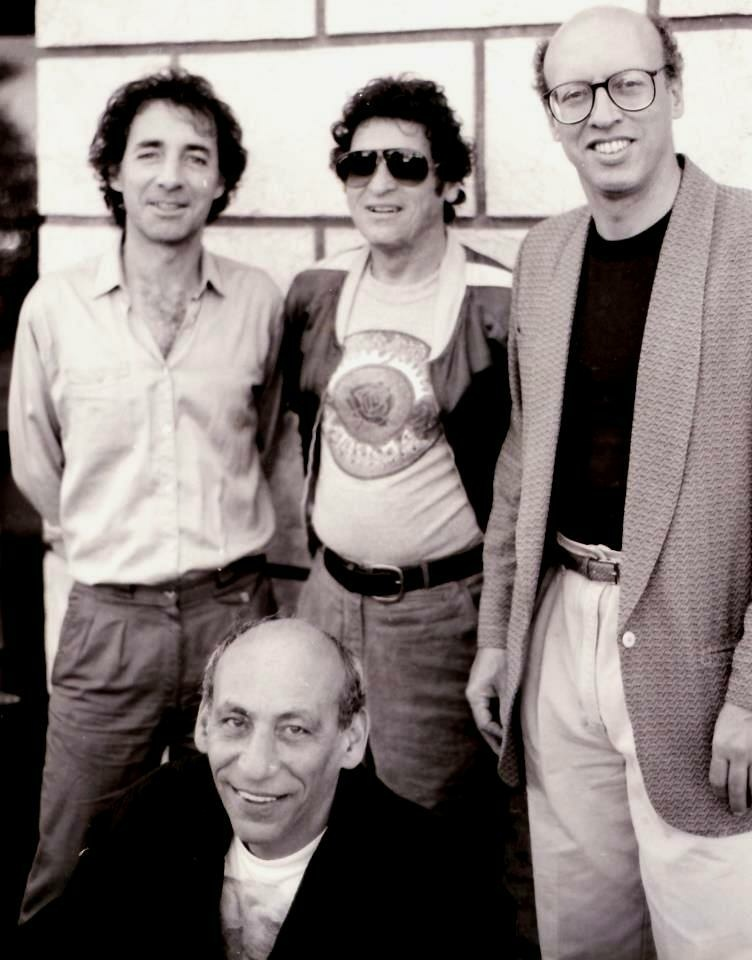Harry Shearer, Scott Kelman, Paul Krassner, and Peter Bergman, photographed for