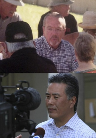 The candidates for the 41st Congressional District: John Tavaglione (above) and Mark Takano.