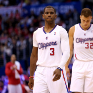 Chris Paul #3 and Blake Griffin #32 during the 2014 Western Conference Quarterfinals. Paul has now been traded to the Houston Rockets