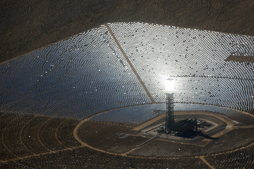 The Ivanpah Solar Power Facility is located in Ivanpah Dry Lake, Calif. near the California-Nevada border. Solar tariffs could make new utility-scale solar developments, like this one, much more expensive.