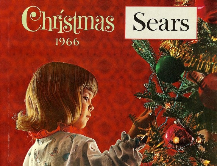 The 1966 Sears Christmas catalog, detail.